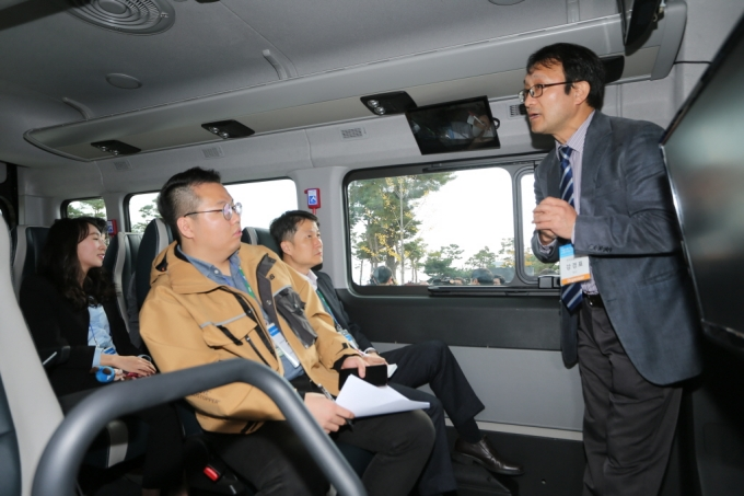 The Ministry of Land, Infrastructure and Transport, taking its first step towards autonomous public transportation 포토이미지
